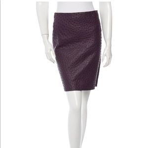 AUTHENTIC PRADA Ostrich Skin Pencil Skirt - SZ 4